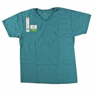 RGRiley | Mens Fruit Of The Loom Stone River Teal V-Neck T-Shirts | Closeout