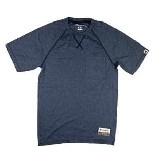 RGRiley | Champion Mens Navy Heather Pocket T-Shirts | Graded Irregular