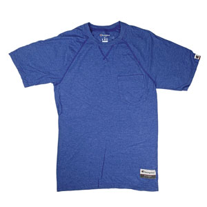 RGRiley | Champion Mens Royal Heather Pocket T-Shirts | Graded Irregular