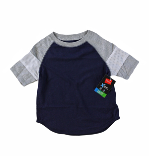 RGRiley | Hanes Boys Navy / Light Steel T-Shirts | Closeout
