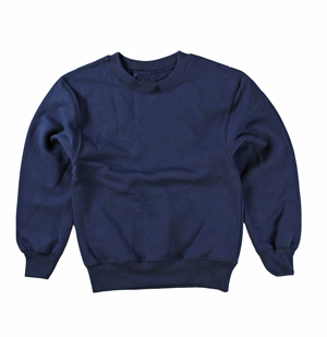 RGRiley | Hanes Boys Navy Fleece Crew Neck Sweatshirts | Irregular