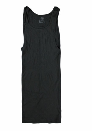 RGRiley | Mens Black Rib Knit Tanks | Irregular