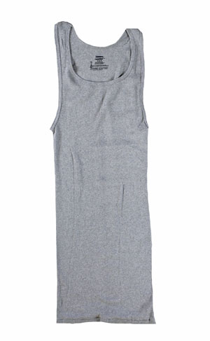RGRiley | Mens Heather Grey Rib Knit Tanks | Irregular