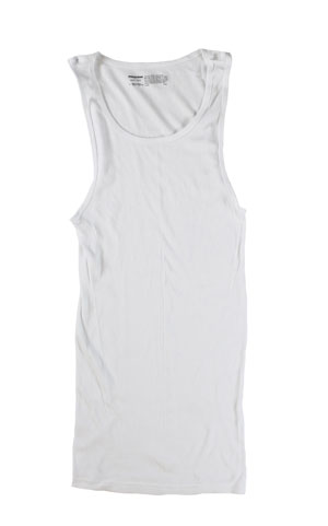 RGRiley | Mens White Rib Knit Tanks | Irregular