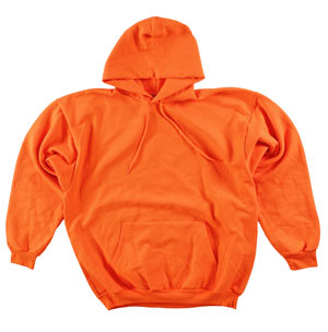 RGRiley.com | Adult Bright Orange Hooded Sweatshirts | Irregular