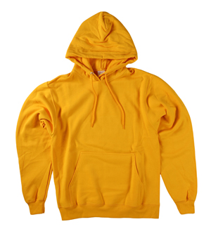 RGRiley | Mens Gold Pullover Hooded Sweatshirts | Irregular