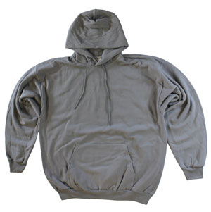 RGRiley.com | Adult Light  Grey Hooded Sweatshirts | Irregular