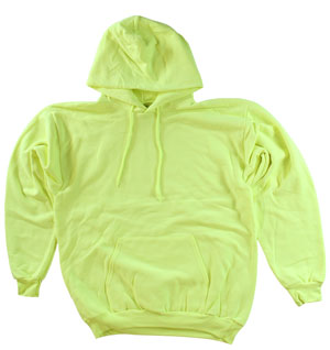 RGRiley.com | Adult Safety Green Hooded Sweatshirts | Irregular