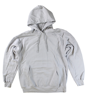 RGRiley | Mens Silver Fleece Pullover Hoodies | Irregular
