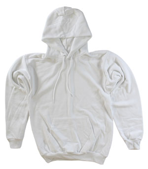 RGRiley.com | Adult White Hooded Sweatshirts | Irregular