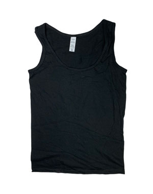 RGRiley | Womens Black Jersey Tank Tops | Irregular