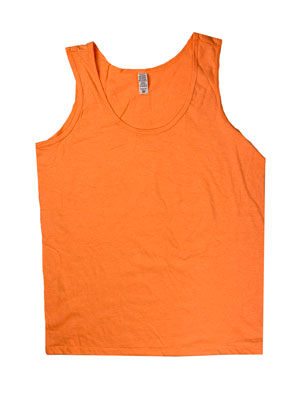 RGRiley | Womens Neon Orange Jersey Tank Tops | Irregular
