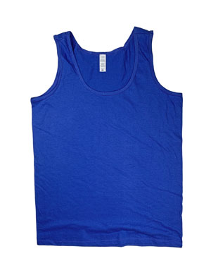 RGRiley | Womens Royal Jersey Tank Tops | Irregular