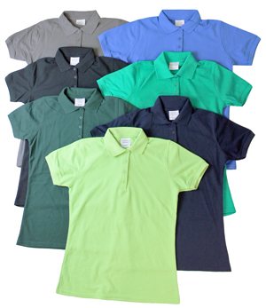 style E225G |Womens Irregular Golf Shirts