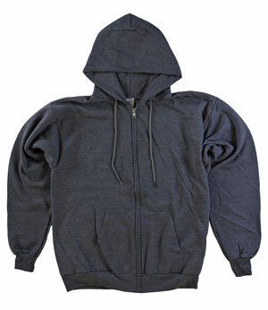 RGRiley | Mens Charcoal Zipper Hooded Privat Labe | Irregular