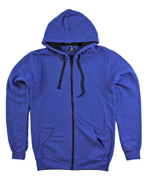 RGRiley | Mens Deep Royal Zipper Hooded Private Label | Irregular