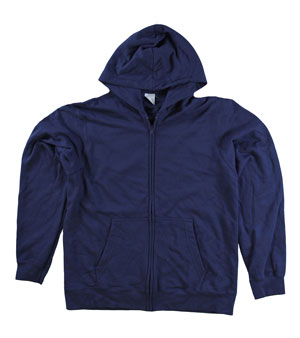 RGRiley | Mens Midnight Navy Zipper Hooded Sweatshirts | Slightly Irregular