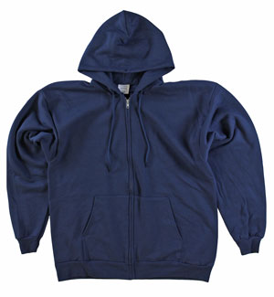RGRiley | Mens Navy Zipper Hooded Private Label | Irrgular