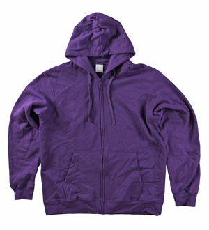 RGRiley | Mens Purple Zipper Hooded Sweatshirts | Slightly Irregular