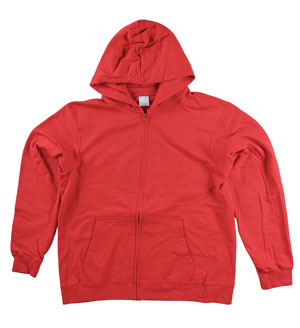 RGRiley | Mens Red Zipper Hooded Sweatshirts | Slightly Irregular