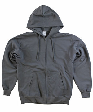 RGRiley | Mens Smoke Grey Zipper Hooded Private Label | Irregular
