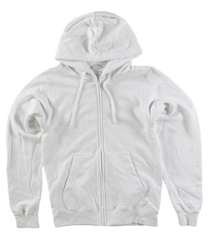 RGRiley | Mens White Zipper Hooded Private Label | Irregular