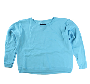 RGRiley | Hanes Womens Light Blue Crew Neck Sweatshirts | Irregular
