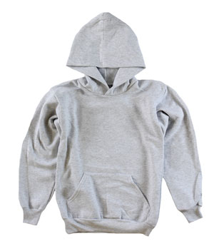 RGRiley | Youth Ash Grey Pullover Hoods | Slightly Irregular