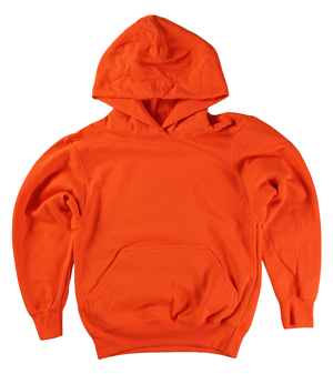 RGRiley | Youth Orange Pullover Hoods | Slightly Irregular