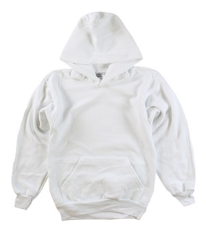 RGRiley | Youth White Pullover Hoods | Slightly Irregular