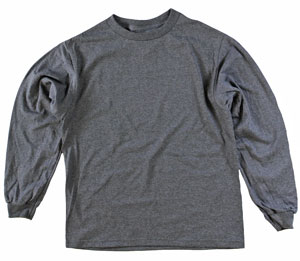 RGRiley | Youth Kids Bulk Long Sleeve Charcoal T-Shirts | Irregular