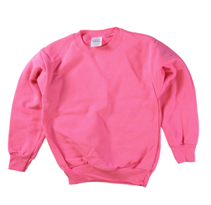 RGRiley | Boys Bright Pink Fleece Crew Neck Sweatshirts | Irregular