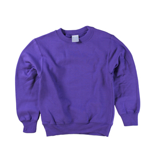 RGRiley | Boys Purple Fleece Crew Neck Sweatshirts | Irregular
