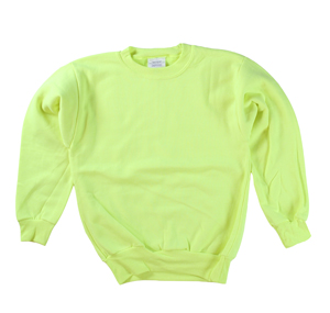 RGRiley | Boys Safety Green Crew Neck Sweatshirts | Irregular