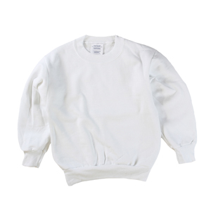 RGRiley | Boys White Fleece Crew Neck Sweatshirts | Irregular