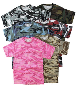 RGRiley | Mens Jersey Camouflage T-Shirts | Closeout