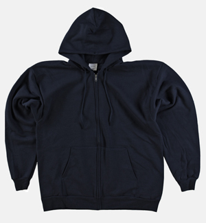 RGRiley | Big Mens Black Fleece Zipper Hoodies | Closeout