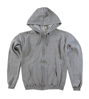 RGRiley | Mens Heather Grey Fleece Zipper Hoodies | Closeout