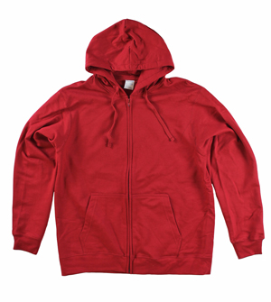RGRiley | Big Mens Cardinal Fleece Zipper Hooded Sweatshirts | Closeout