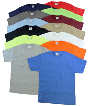 style EC175 |Mens Short Sleeve Pocket T's