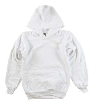 RGRiley | Boys White Fleece Pullover Hooded Sweatshirts | Closeout