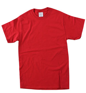 RGRiley | Mens Red Short Sleeve T-Shirts | Irregular