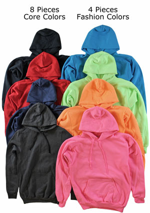 RGRiley.com | Adult Mixed Color Hooded Sweatshirts | Private Label | Irregulars