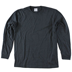 RGRiley | Mens Black Long Sleeve T-Shirts | Irregular