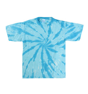 RGRiley | Youth Turquoise Swirl Tie Dye T-Shirts | Closeout