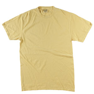 RGRiley | Mens Wholesale Garment Dyed T-Shirts Dijon | Graded Irregular