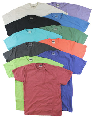 RGRiley | Mens Wholesale Garment Dye Tees Mixed Colors | Graded Irregular