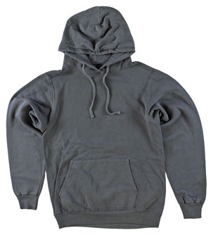 RGRiley | Adult Bulk Coal Garment Dyed Hooded Sweatshirts | Irregular