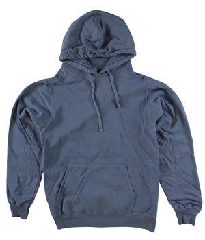 RGRiley | Adult Bulk Denim Blue Garment Dyed Hooded Sweatshirts | Irregular