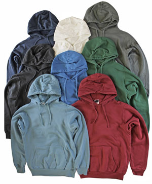 RGRiley | Adult Bulk Mixed Colors Garment Dyed Hooded Sweatshirts | Irreular